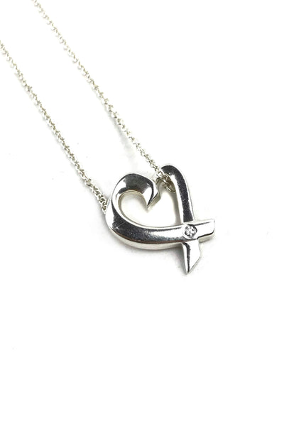 Paloma Picasso Small Loving Heart Pendant W/ Diamond