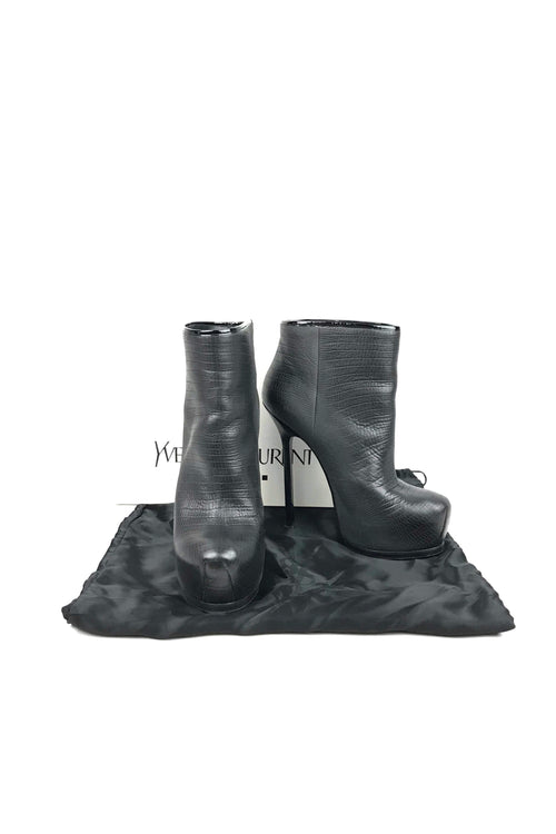Black/Grey Grained Tribtoo 105 Degrade Boots - Haute Classics