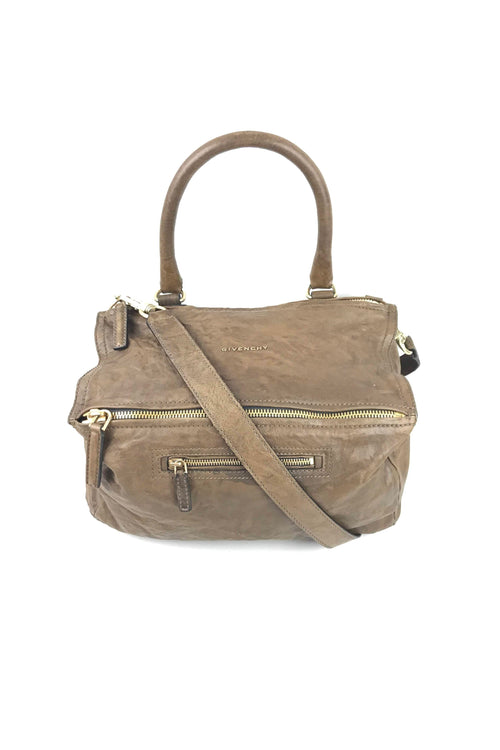 Brown Old Pepe Sheepskin Medium Pandora Bag