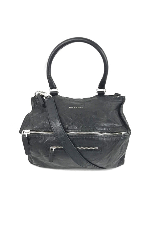 Black Old Pepe Sheepskin Medium Pandora Bag