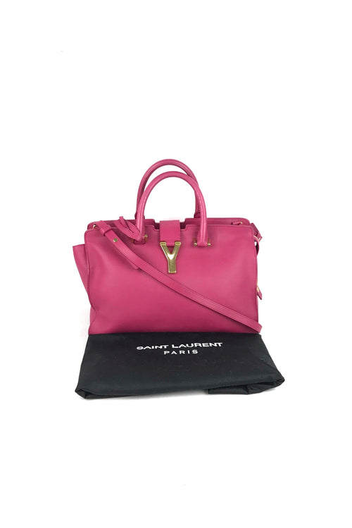 Paris Fuschia Calfskin Small ChYc Cabas Bag W/GHW
