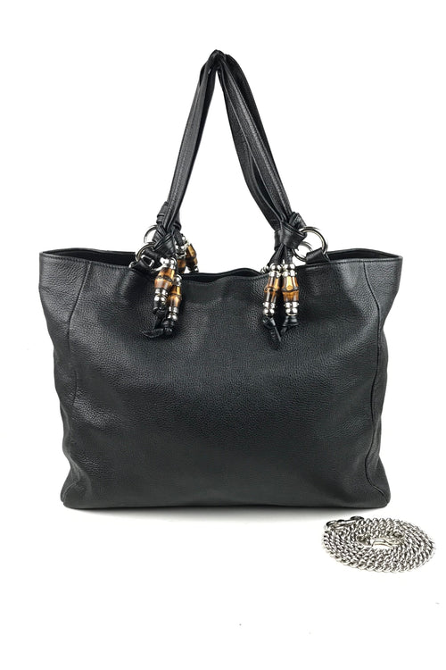 Black Pebbled Leather Jungle Medium Hobo Bag W/ SHW