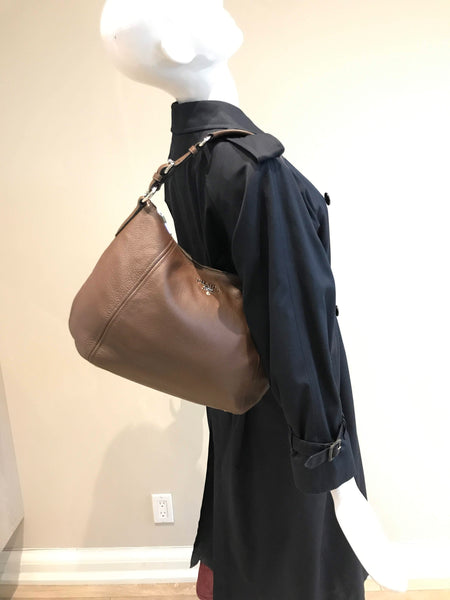 Brown Vitello Phenix Hobo Bag W/ SHW