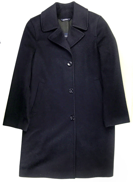 Navy Wool/Cashmere Blend Stephanie Coat