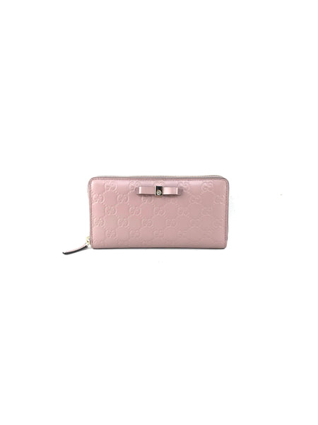 Blush Monogram Continental GG Leather Wallet W/GHW