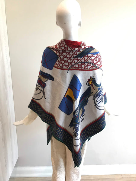 """Les Voitures Au Transformation"" Cashmere/Silk Blend Shawl"