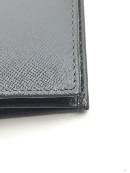 Grey Saffiano Leather Travel Wallet