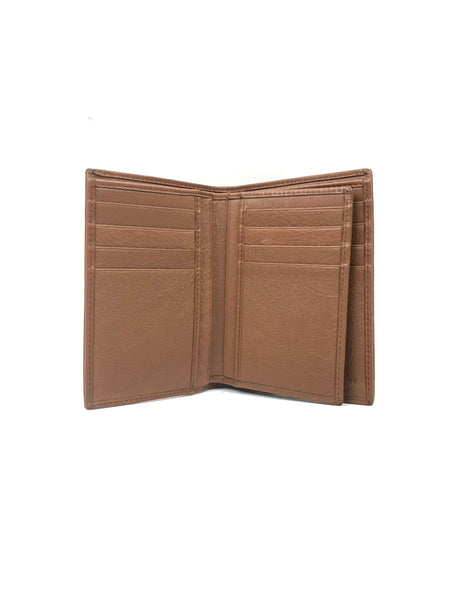 Paris Brown Smooth Leather Billfold Wallet