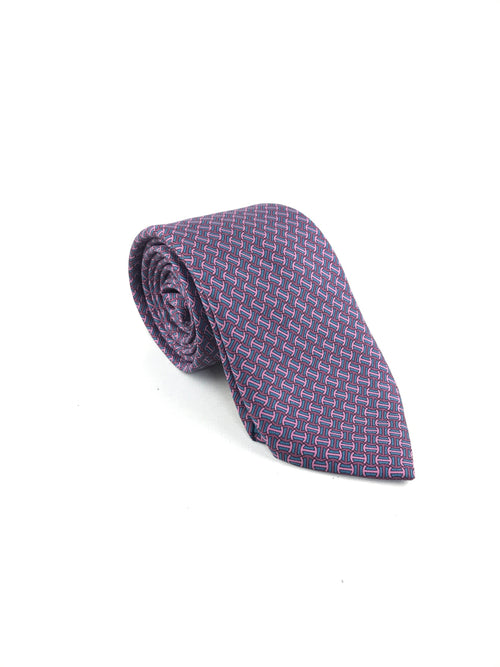 Purple/Rose/Canard Twill Silk Tie