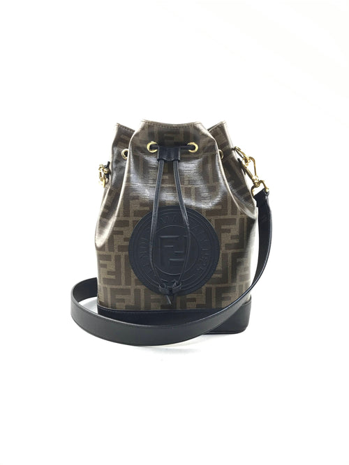 Zucca Print Coated Canvas Mon Tresor Bucket Bag W/GHW
