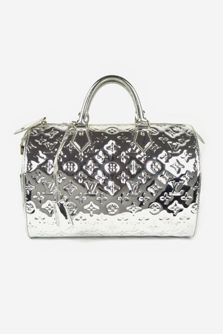 Limited Edition Silver Monogram Miroir Speedy 30