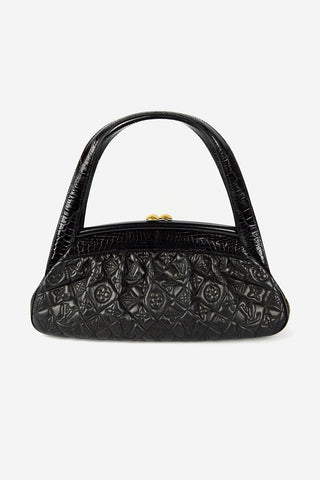 Limited Edition Black Alligator Monogram Vienna Sac Fermoir MM Bag