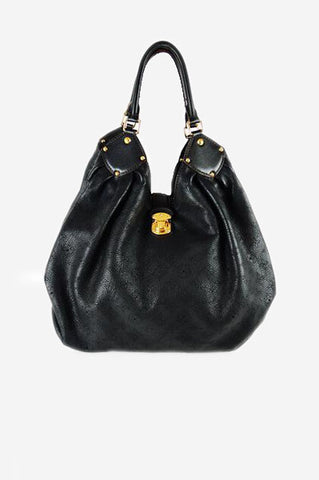 Black Monogram Mahina XL Hobo Bag
