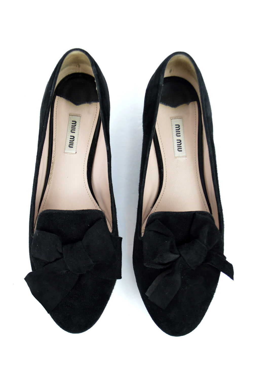 Crystal Heel Black Suede Loafers