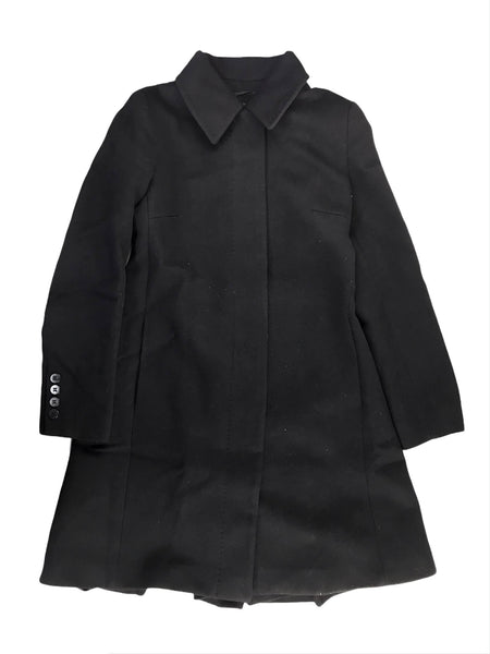 Black Diamond Quilted Double Breasted Belted Coat W/SHW
