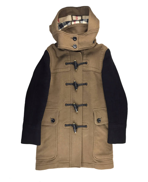 Brown Wool Hooded Coat