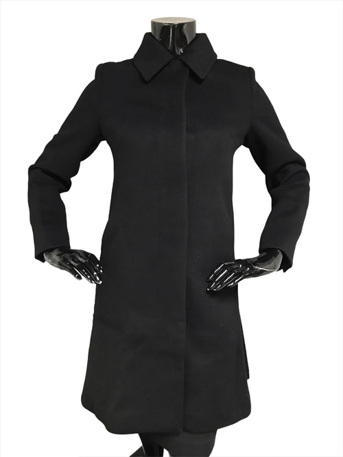 Black Wool/Cashmere Blend Coat