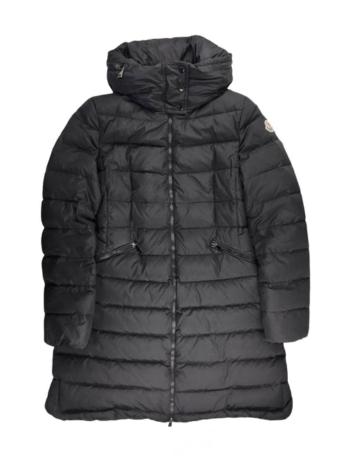 Black Flamette Puffer Coat W/SHW