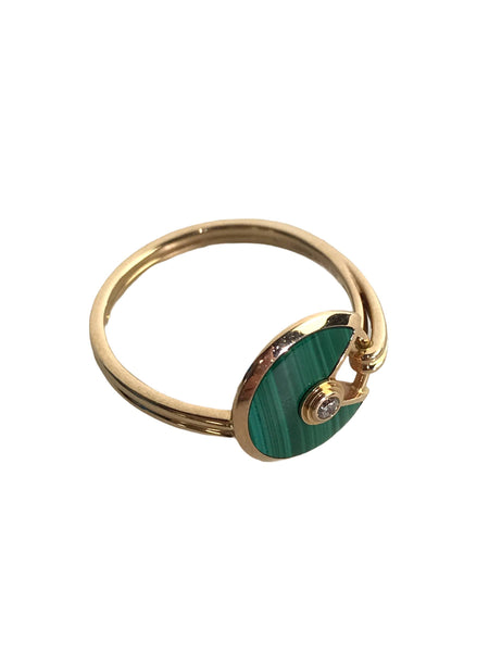 Amulette De Cartier 18K Rose Gold, Diamond & Malachite Ring