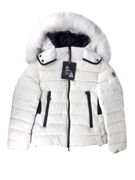 Lamoura White Fox Fur Removable Hood Ski Jacket Puffer W/BHW