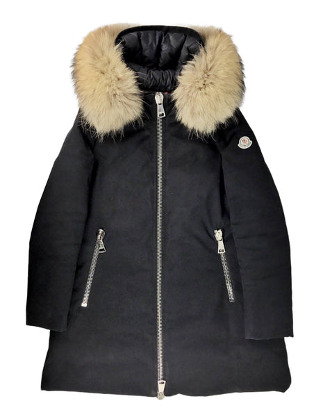 Dimitra Black Long Puffer