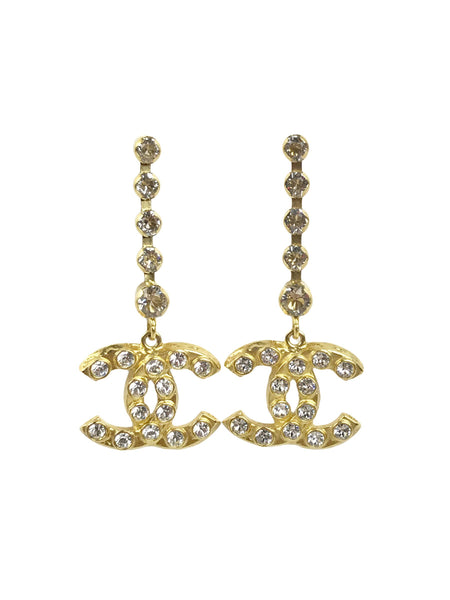 Crystal Drop Earrings W/GHW