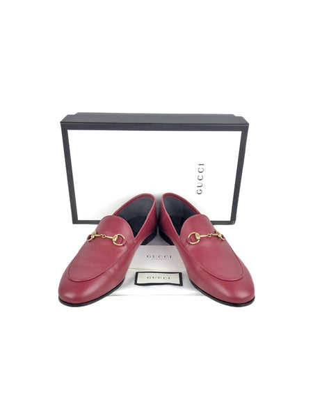 Cerese Red Jordaan Horsebit Loafers