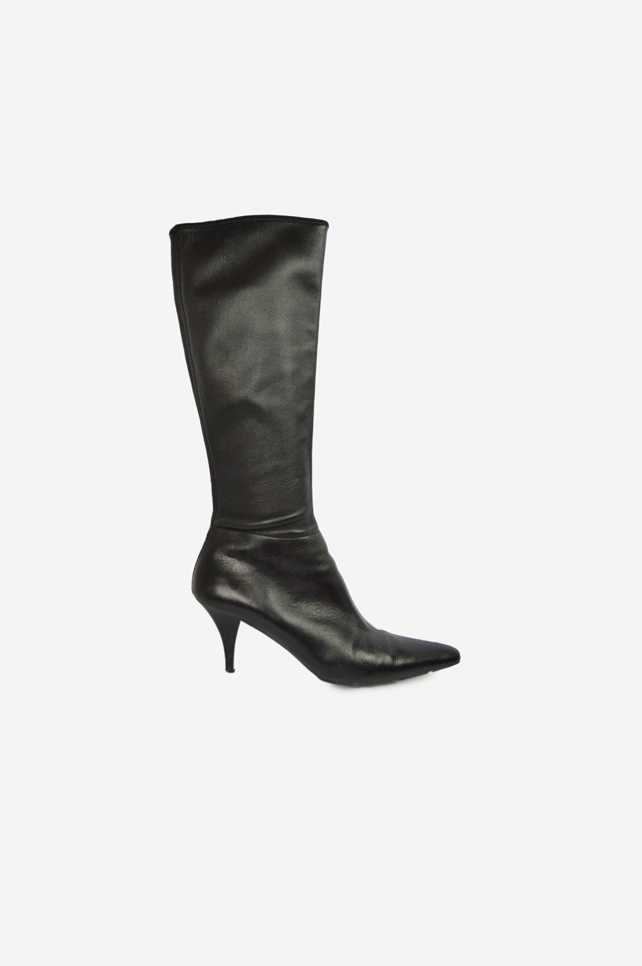 Black Pointed-Toe Boots