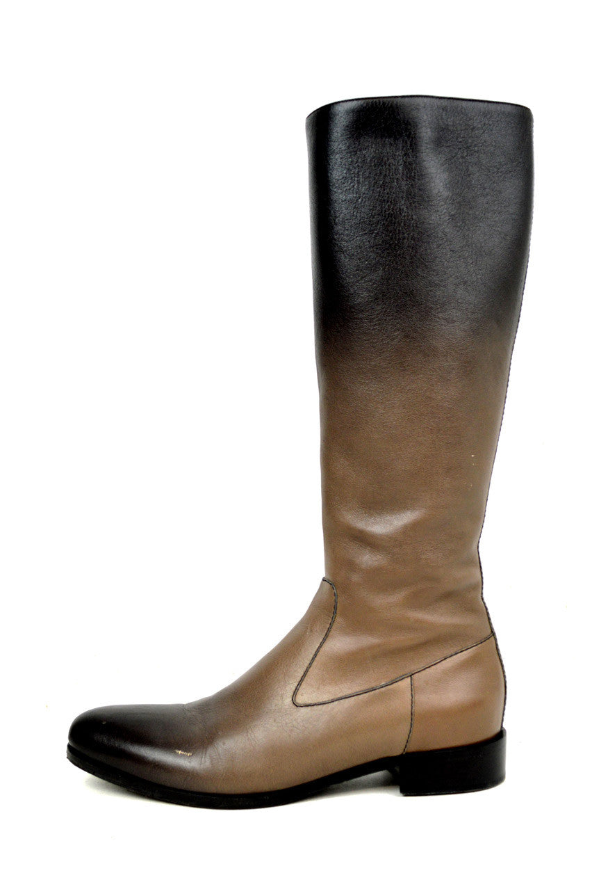 Ombre Brown Leather Boots