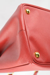 Red Saffiano Leather Galleria Tote