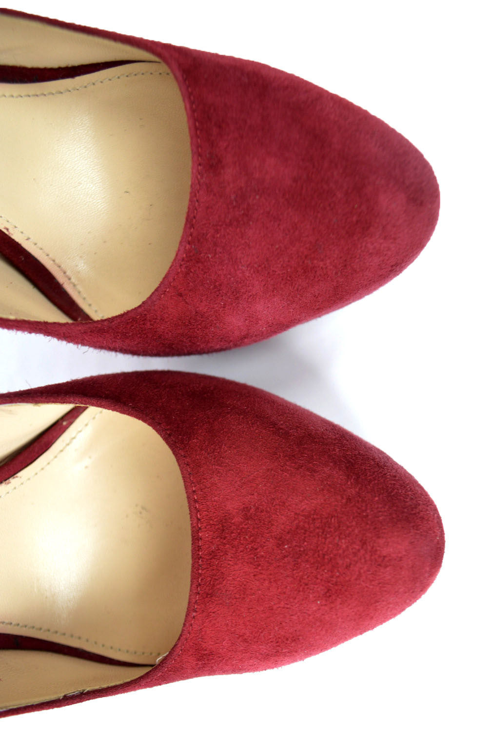 Cherry Red Suede Mary Jane Pumps