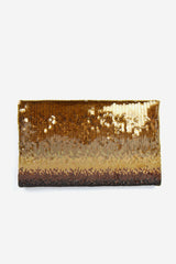 Brown Ombre Sequin Clutch
