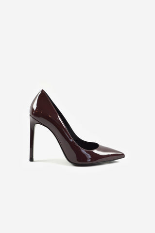 Patent Leather Curved Heel Pumps