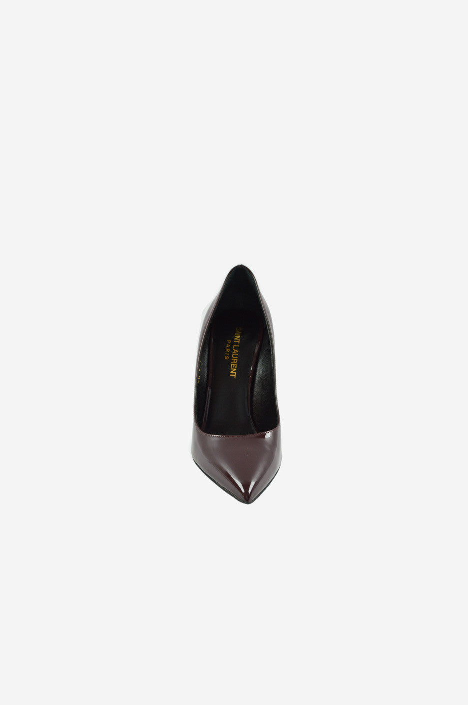 Burgundy Patent Leather Pointed-Toe Pumps