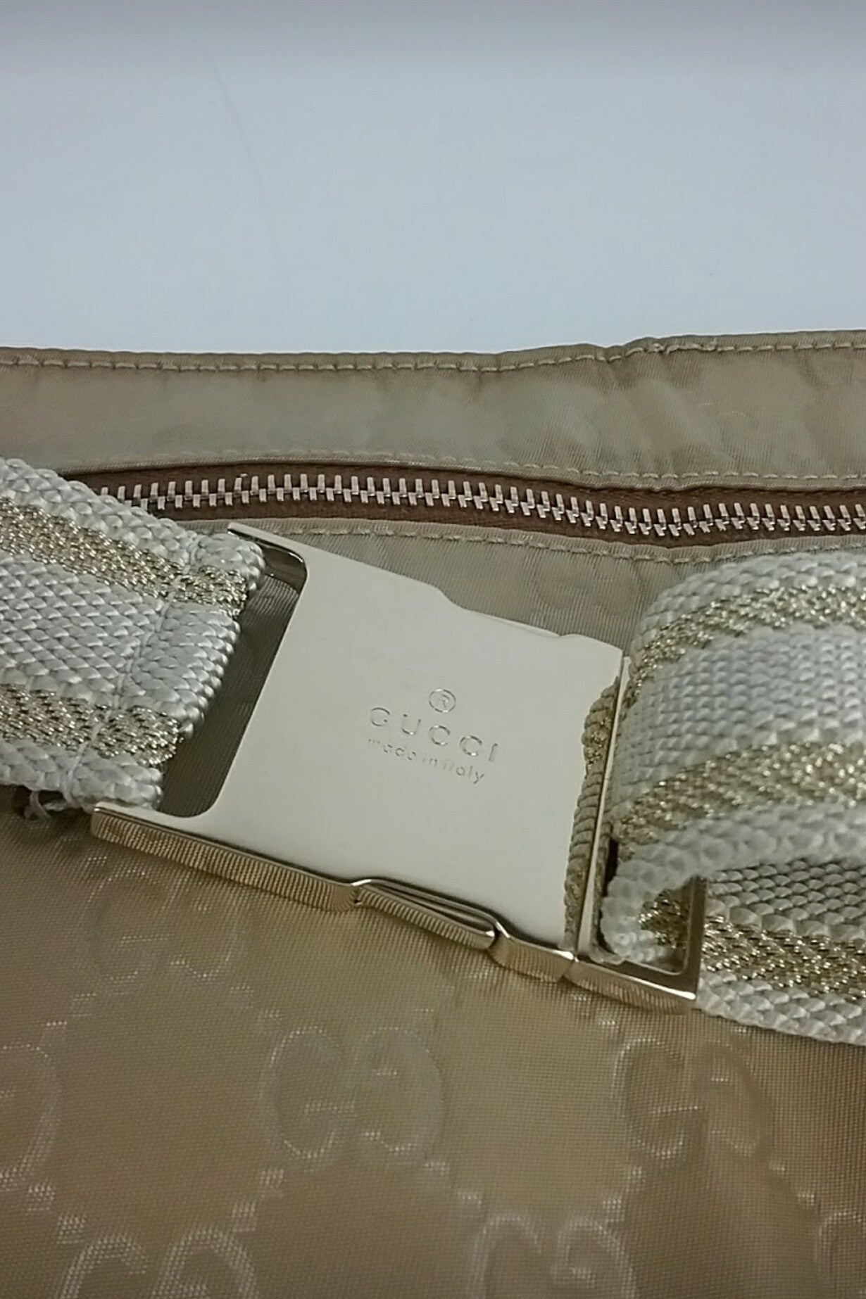 Beige Monogram Canvas Fanny Pack