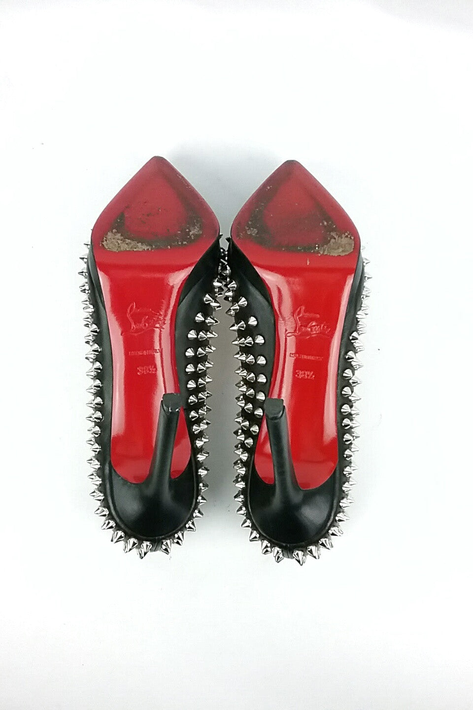 Black Pigalle Plato Spike Pumps