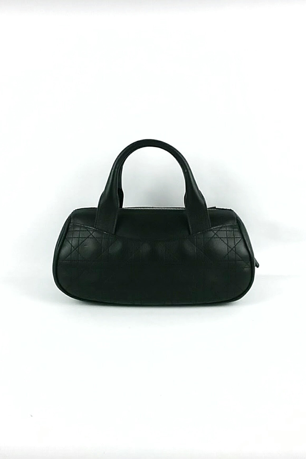 Black Small Quilted Cannage Leather Tote