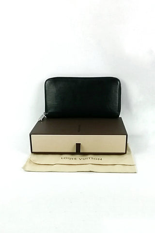Black Epi Leather Zippy Wallet SHW