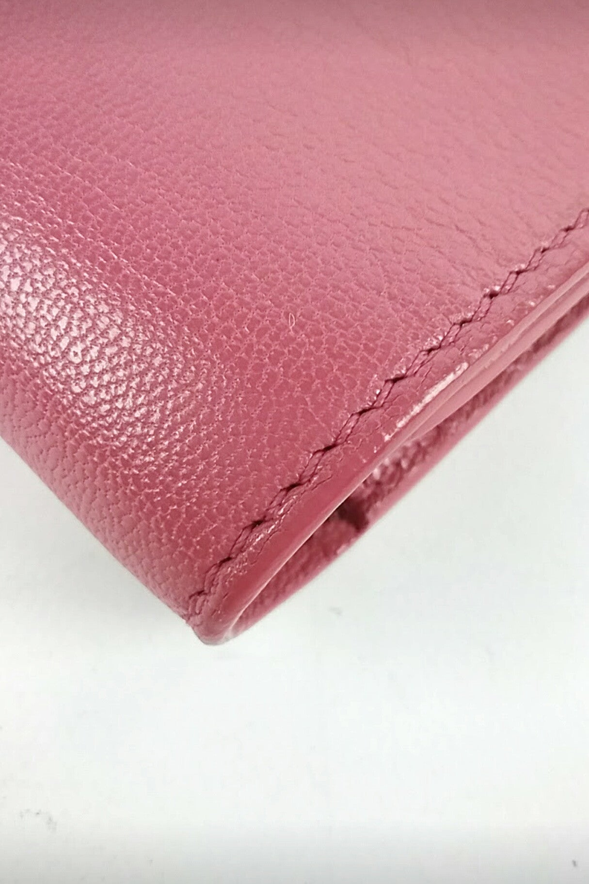 Pink Leather Bell du Jour Large Clutch