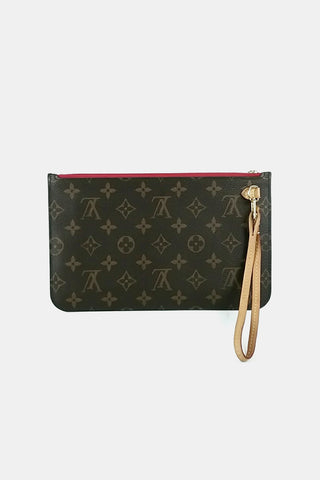 Monogram Canvas Neverfull Pochette w/ Red Lining