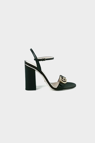 Black Leather Marmont Sandals
