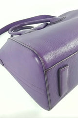 Purple Medium Antigona Tote w/ Shoulder Strap