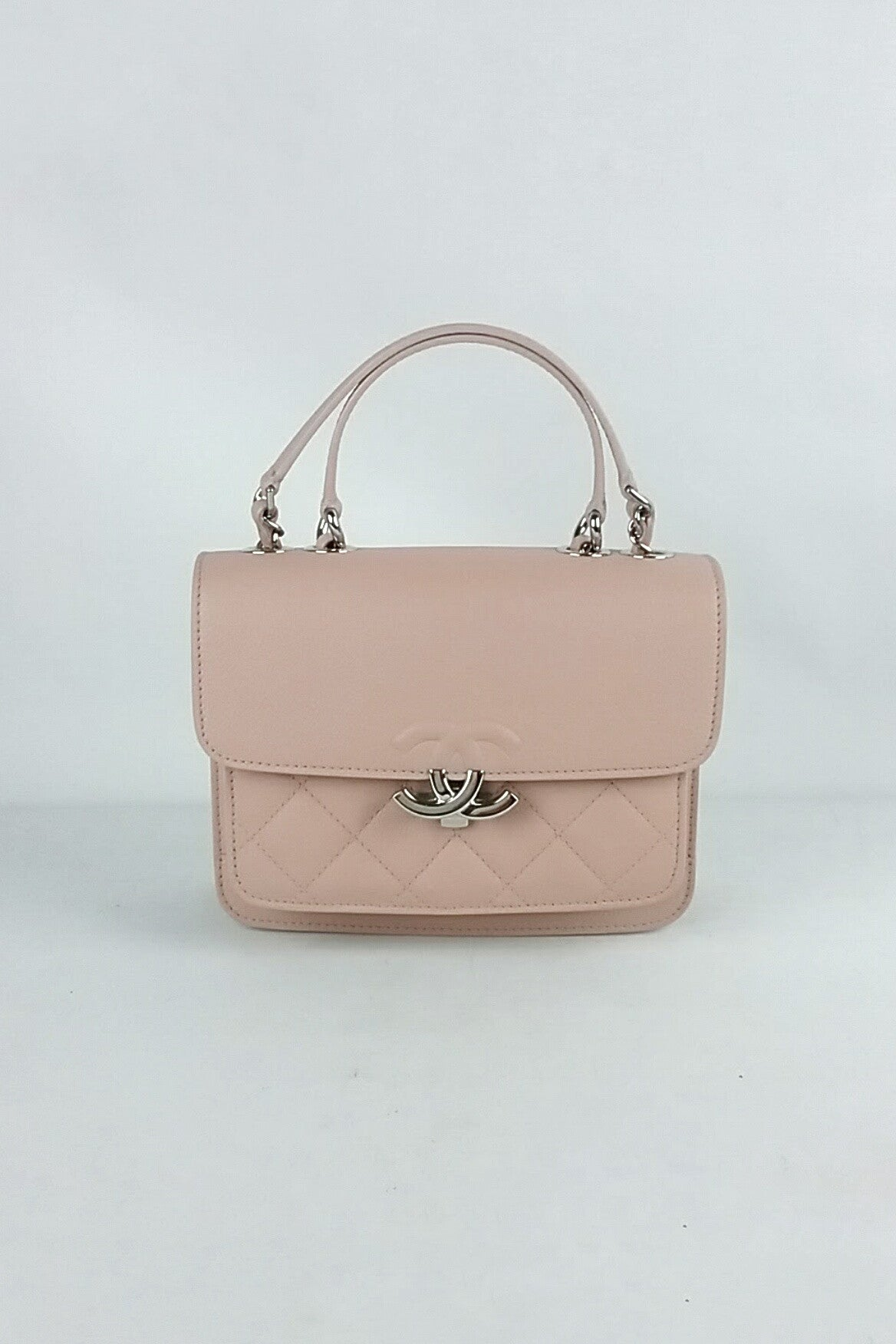 Blush Pink Calfskin Flap Bag