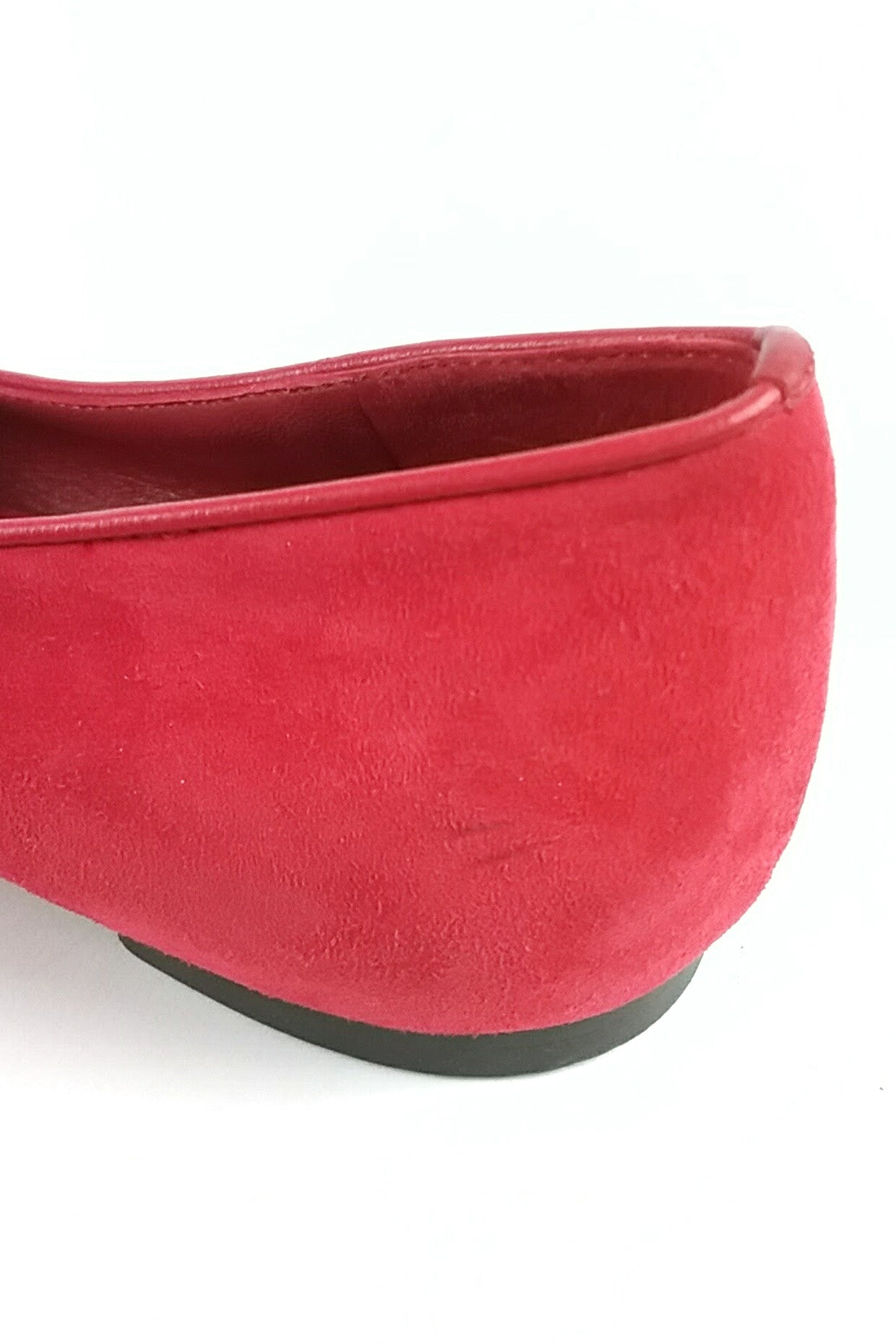 Red Suede Loafers w/ Sequined-Skull Detail
