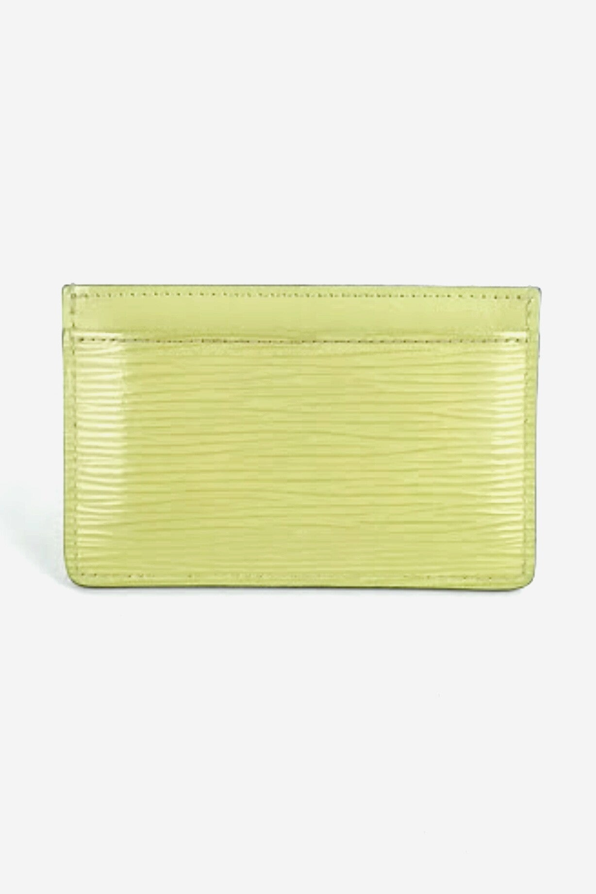 Neon Yellow Epi Card Holder