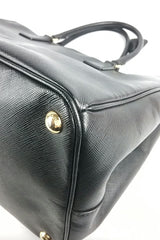 Black Saffiano Lux Leather Large Tote Bag