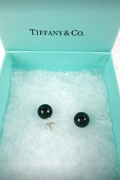 Black Onyx Stud Earrings - Haute Classics