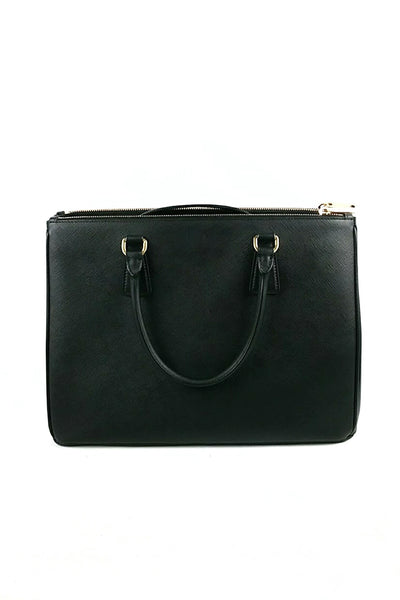 Black Saffiano Leather Galleria Tote - Haute Classics