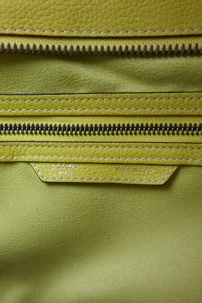 Yellow Bullhide Calf Leather Mini Luggage Tote