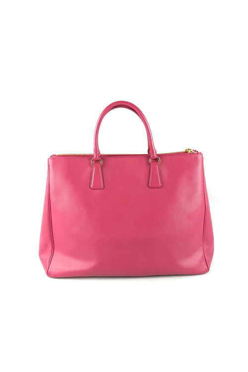 Peonia Saffiano Lux Double Zip Galleria Large Tote Bag
